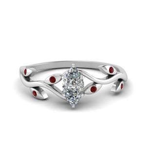 Ruby Marquise Diamond Ring