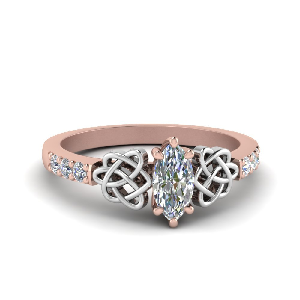 Marquise Shaped Celtic Diamond Ring