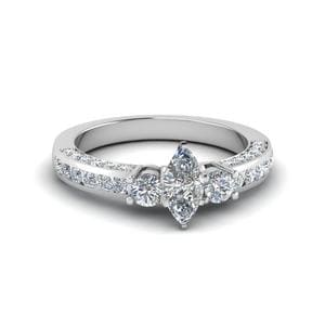 Marquise Cut Channel Set Ring