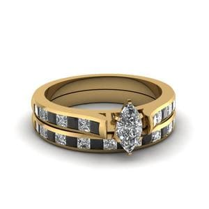 Princess Cut Accent Ring With Band