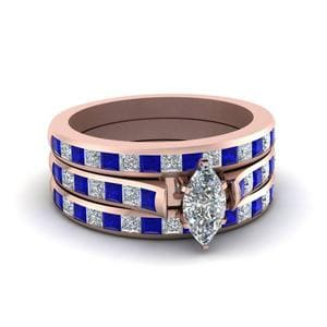 Sapphire Ring With Matching Bands