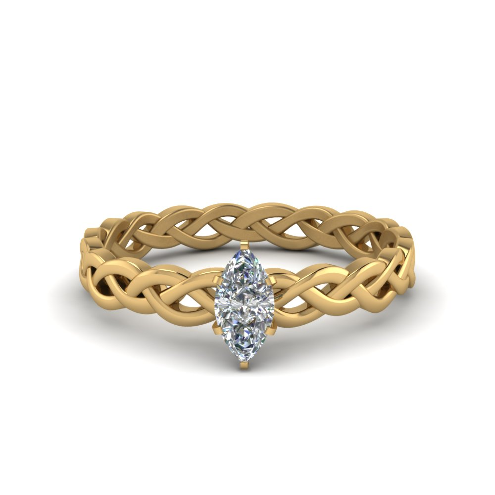 Marquise Cut Single Diamond Ring