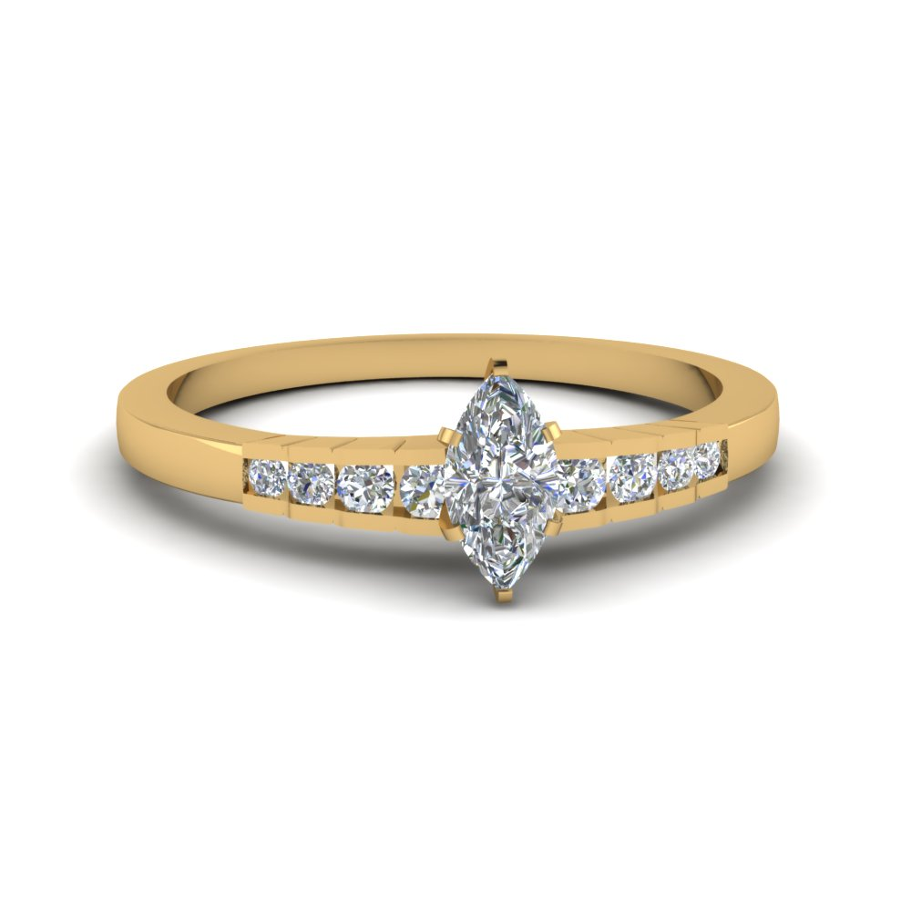 simple accent 1/2 carat marquise ring