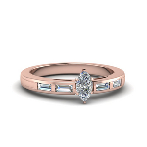 Baguette Marquise Diamond Ring