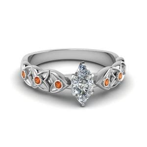 Bezel Marquise Shaped Ring