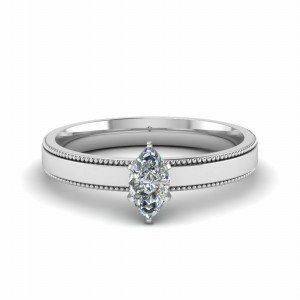 Marquise Diamond 18k White Gold Ring