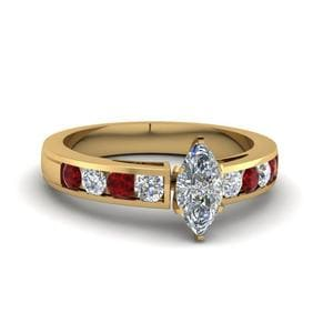 Channel Ruby Engagement Ring