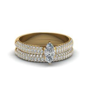 Micropave Ring With Band