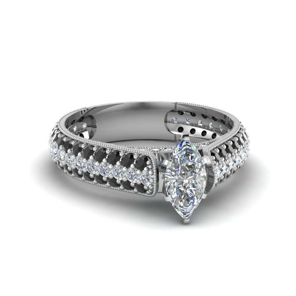 White Gold Wedding Ring Multi Loop Diamonds