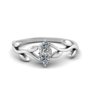 Marquise Single Diamond Ring