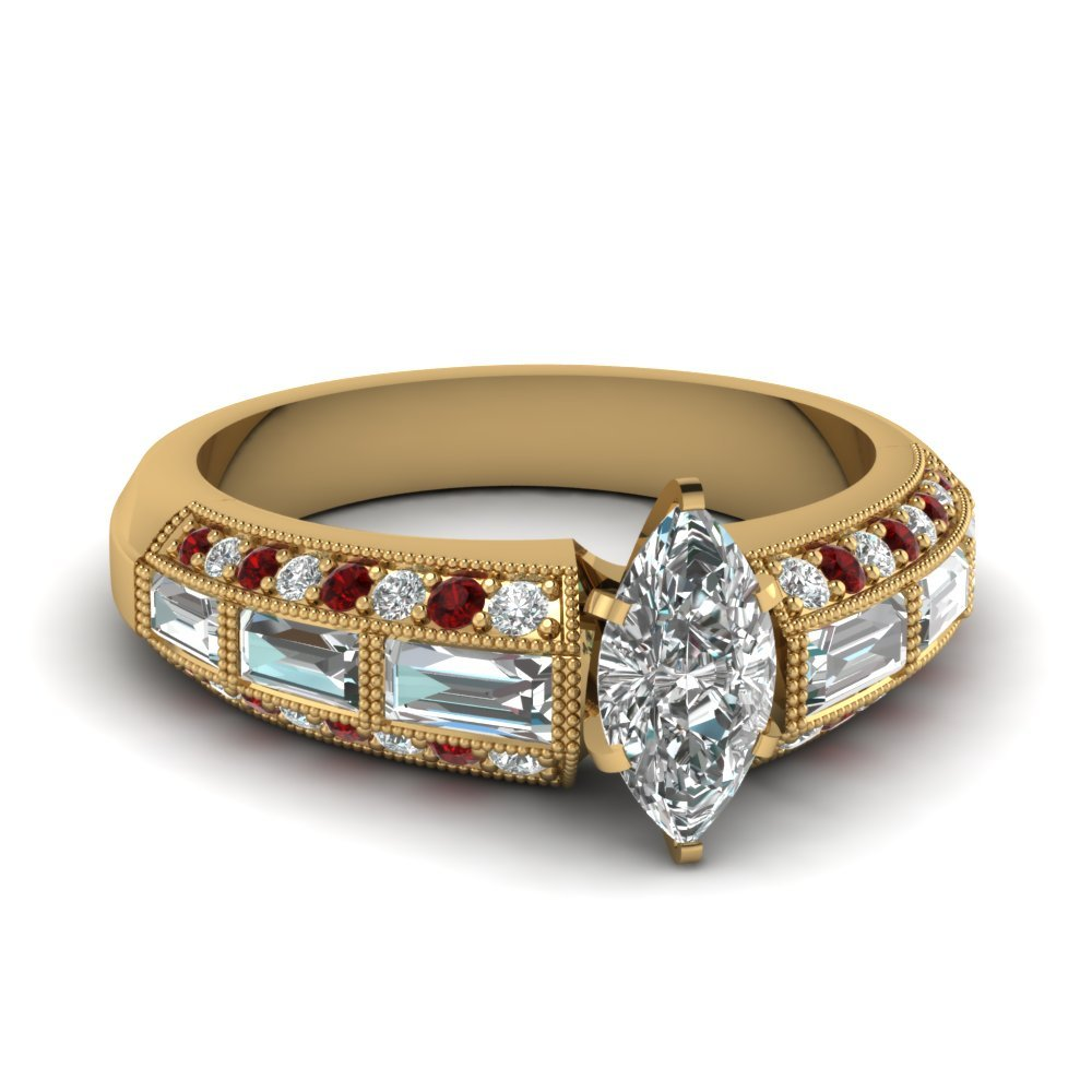 Marquise Cut Edwardian Diamond Ring