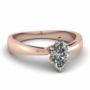 Marquise Shaped Solitaire Ring