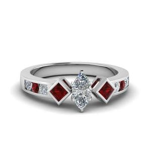 Ruby Marquise Cut Ring