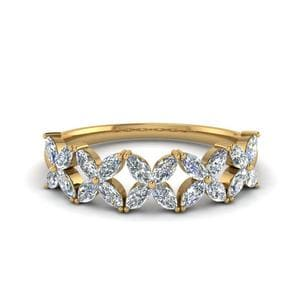 14K Yellow Gold Floral Band 1 Ct.