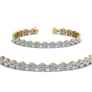 Marquise Diamond Tennis mom Bracelet