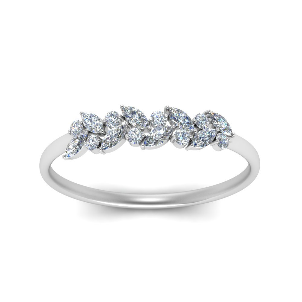 Marquise Diamond Wedding Anniversary Ring
