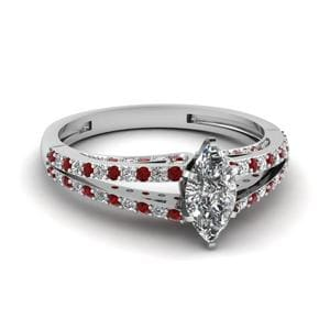 Delicate Engagement Ring With Ruby