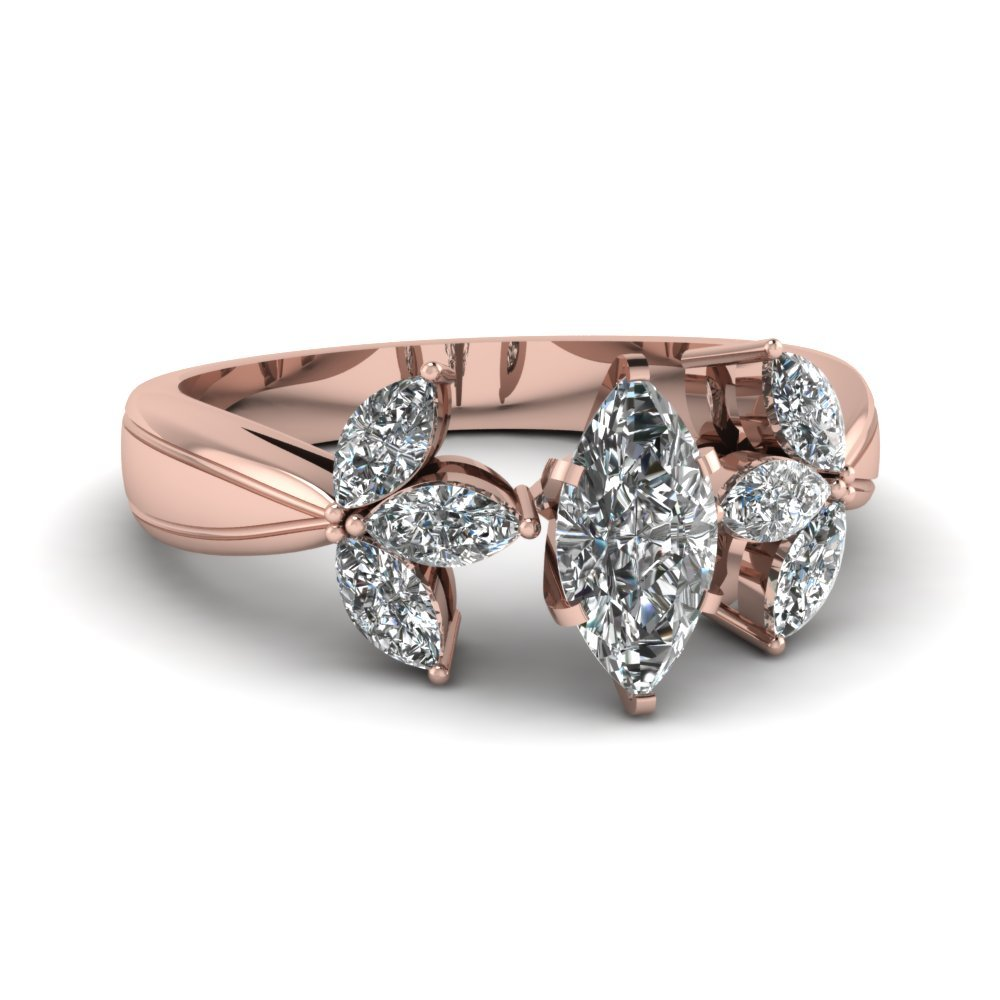 Marquise Flower Diamond Ring