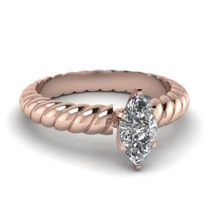 Solitaire Marquise Cut Diamond Ring
