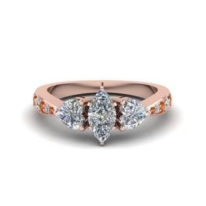 Marquise Cut Rose Gold Ring