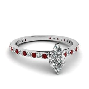 Cathedral Pave Diamond Ring