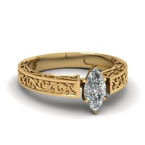 Antique Inspired Engraved Ring