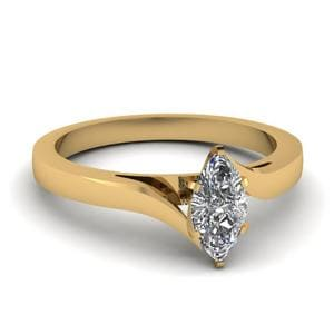 Simple Marquise Cut Diamond Ring