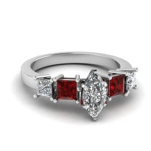 Ruby Classic Basket Ring