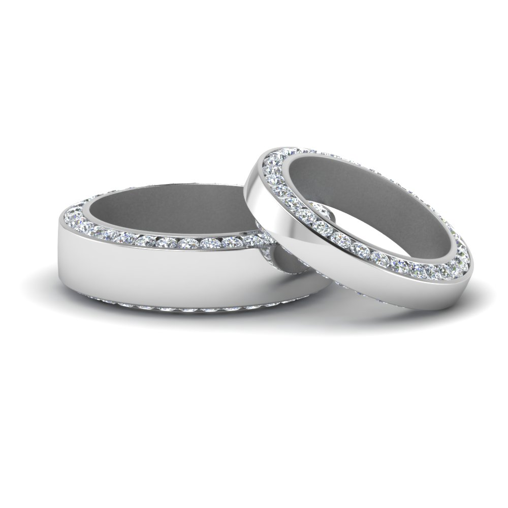 Matching Set Channel Diamond Ring