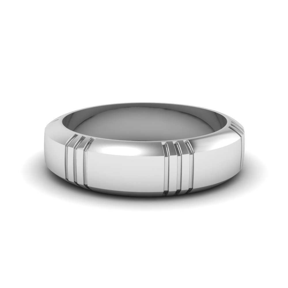 Matte Finish Beveled mens Ring