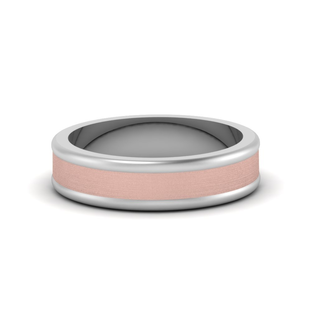 Matte Finish 2 Tone Mens Band
