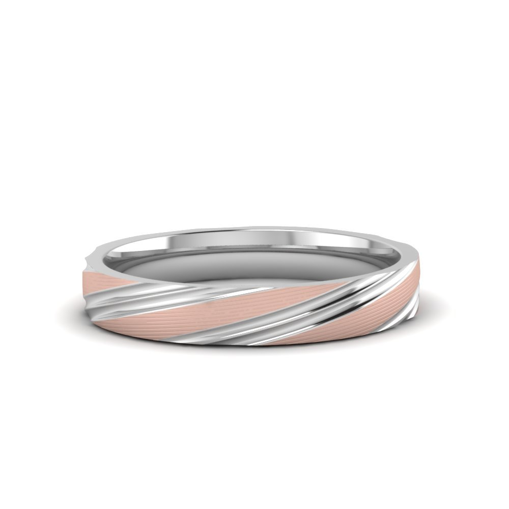 Mens 2 Tone Wedding Band