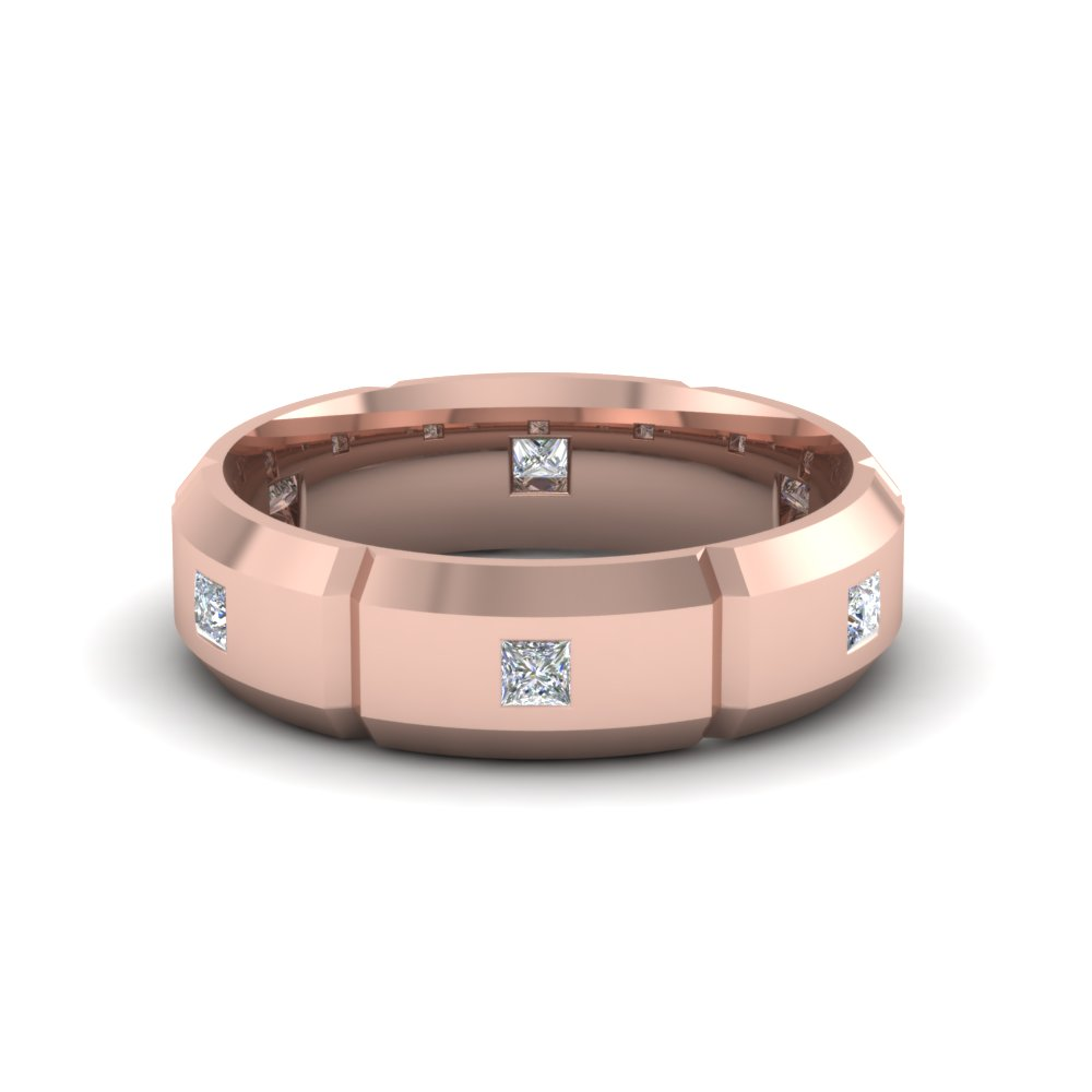 Bezel Set Princess Diamond Band