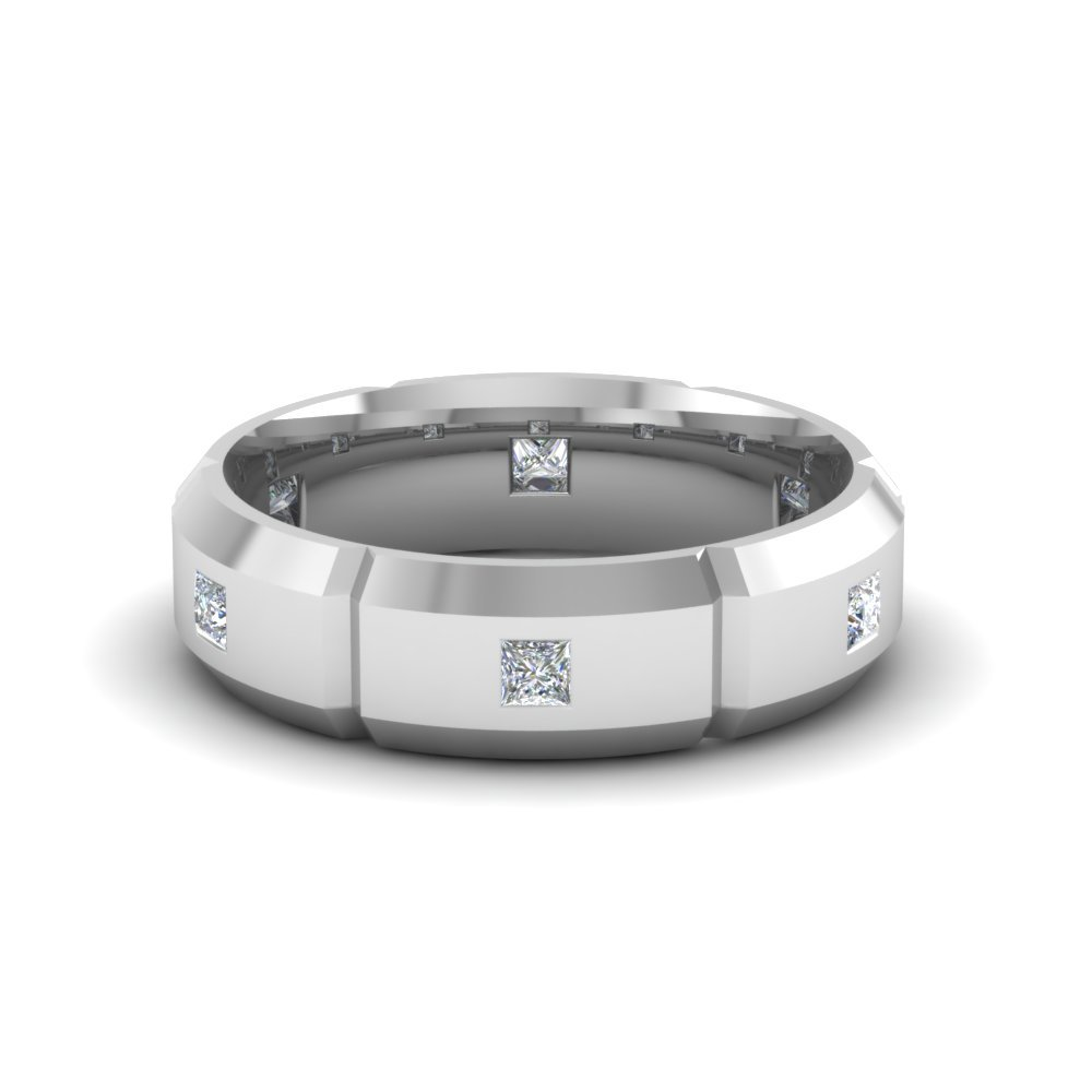 Mens Platinum Diamond Wedding Bands