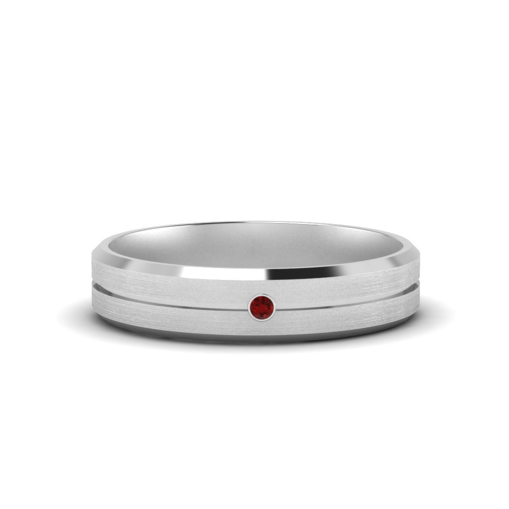 Mens Single Stone Ruby Engagement Ring