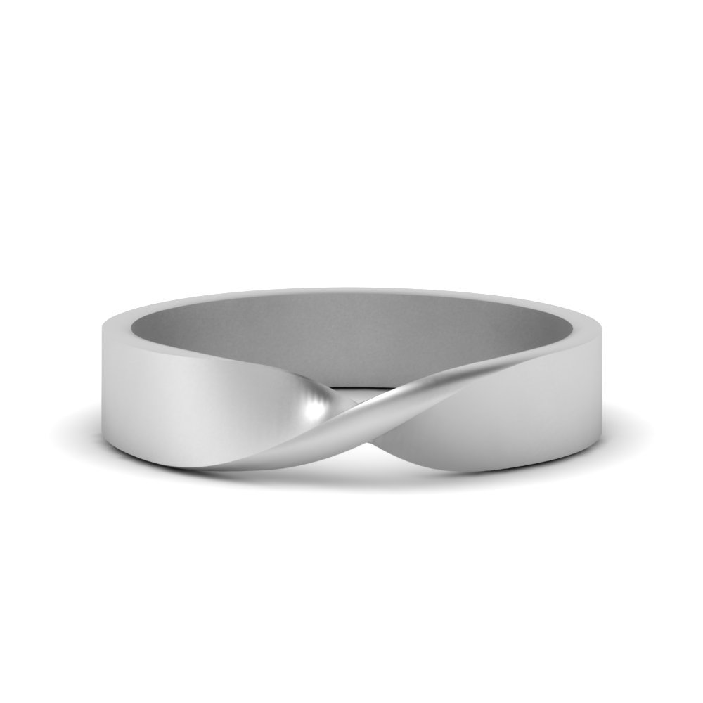 Mens Twist Wedding Ring