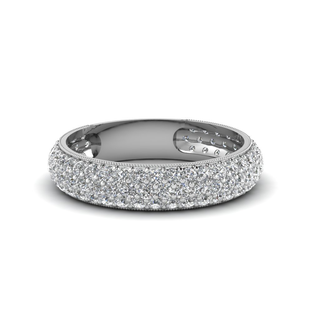 Micropave Diamond Band For Women