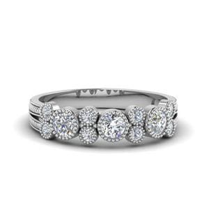 0.65 Ct. Milgrain Bezel Diamond Band
