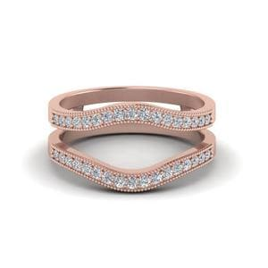 Milgrain Contour Diamond Ring Guard