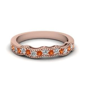 Rose Gold Curve Women Band