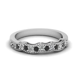 Platinum Black Diamond Pave Band