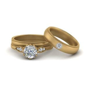 Matching Wedding Set For Couples