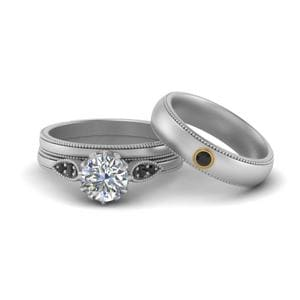 Platinum Black Diamond Matching Set
