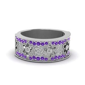 Nature Inspired Purple Topaz Band