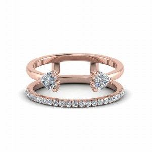 Modern Cuff Diamond Wedding Band In 18K Rose Gold