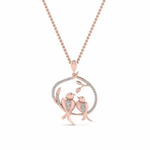 Bird Diamond Necklace For Womens