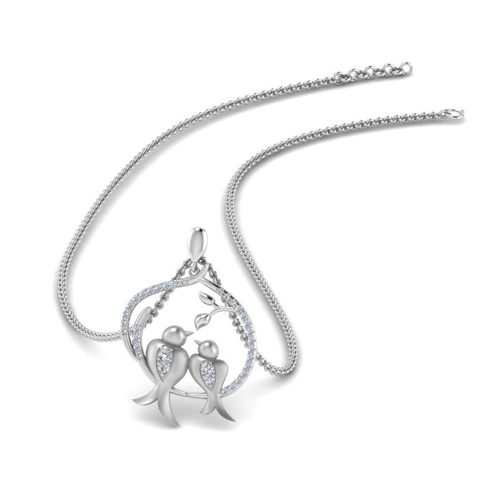 Mother Bird Diamond Necklace