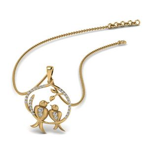 Diamond Mother Bird Pendant