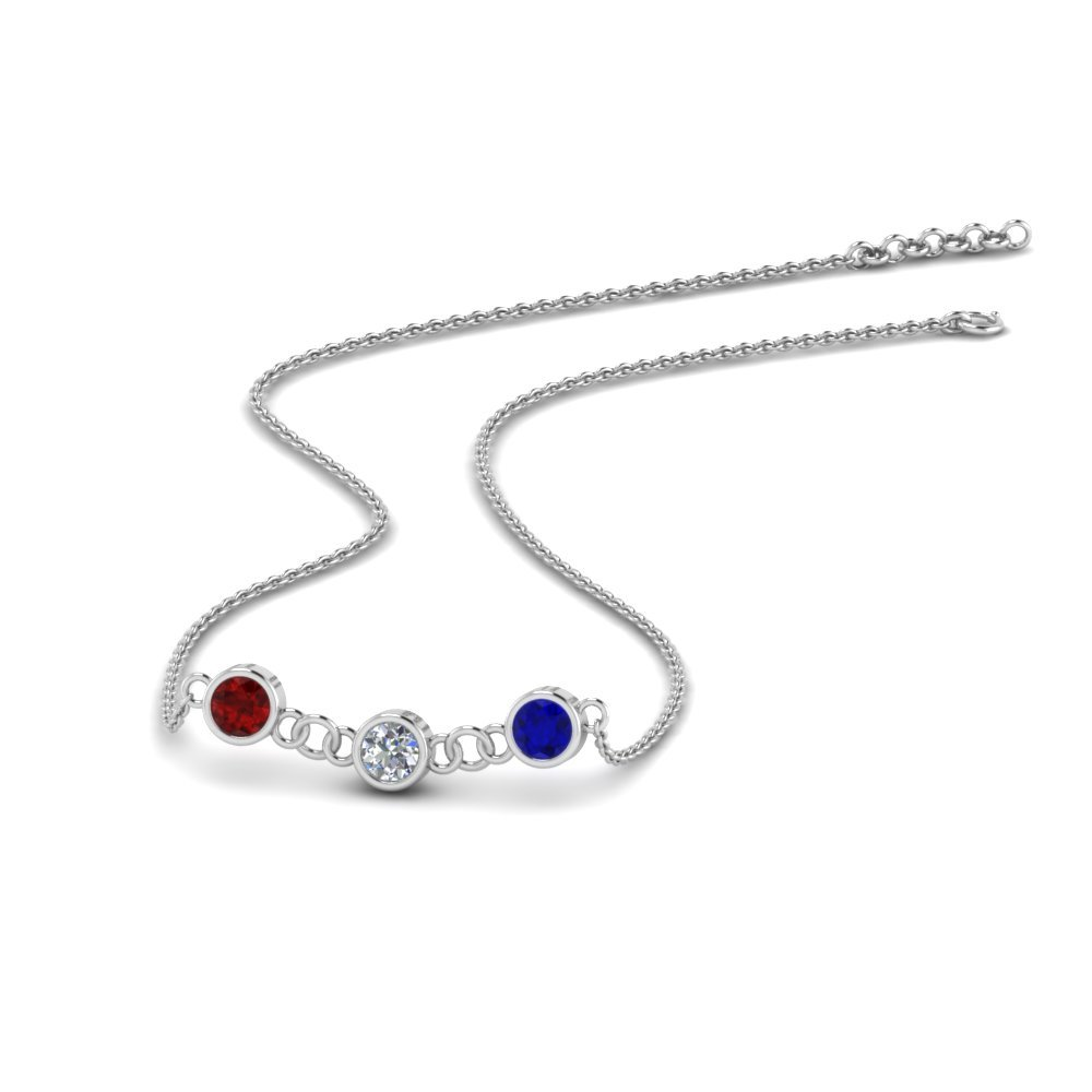 18K White Gold Necklace for Women