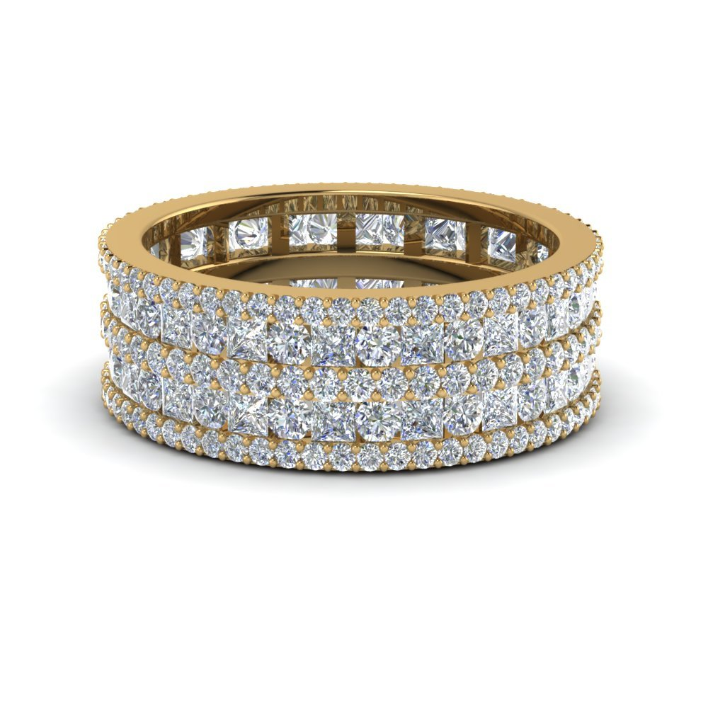 2.50 Ct. Multi Row Diamond Eternity<br> Ring